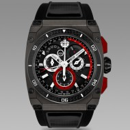 Savoy Extreme Carbon 43mm - Swiss Made Limited Edition to 200 - Gun IP with red carbon case side